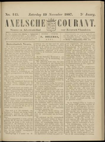 Axelsche Courant 1887-11-19