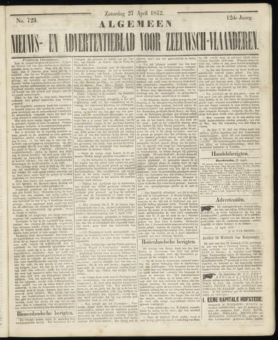 Ter Neuzensche Courant. Algemeen Nieuws- en Advertentieblad voor Zeeuwsch-Vlaanderen / Neuzensche Courant ... (idem) / (Algemeen) nieuws en advertentieblad voor Zeeuwsch-Vlaanderen 1872-04-27