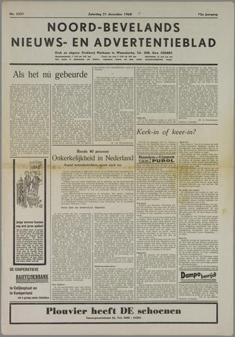 Noord-Bevelands Nieuws- en advertentieblad 1968-12-21