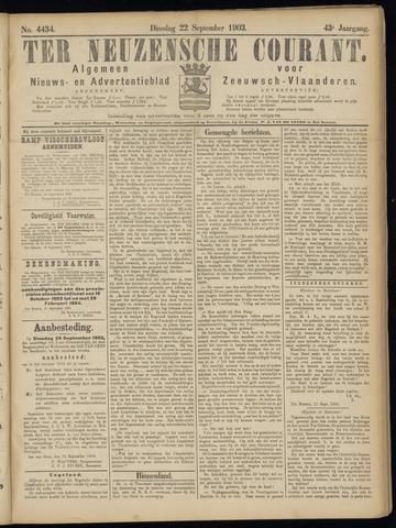 Ter Neuzensche Courant. Algemeen Nieuws- en Advertentieblad voor Zeeuwsch-Vlaanderen / Neuzensche Courant ... (idem) / (Algemeen) nieuws en advertentieblad voor Zeeuwsch-Vlaanderen 1903-09-22