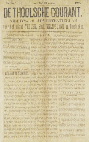 Ierseksche en Thoolsche Courant 1885-01-10