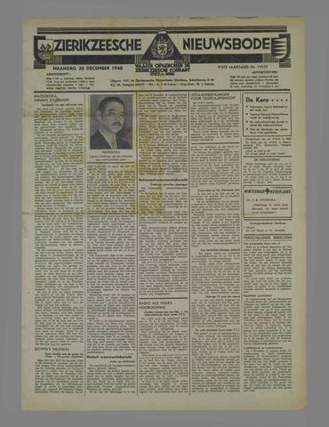 Zierikzeesche Nieuwsbode 1940-12-30