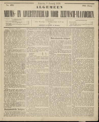 Ter Neuzensche Courant. Algemeen Nieuws- en Advertentieblad voor Zeeuwsch-Vlaanderen / Neuzensche Courant ... (idem) / (Algemeen) nieuws en advertentieblad voor Zeeuwsch-Vlaanderen 1870-01-08