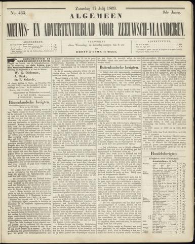 Ter Neuzensche Courant. Algemeen Nieuws- en Advertentieblad voor Zeeuwsch-Vlaanderen / Neuzensche Courant ... (idem) / (Algemeen) nieuws en advertentieblad voor Zeeuwsch-Vlaanderen 1869-07-17