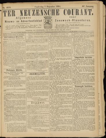 Ter Neuzensche Courant. Algemeen Nieuws- en Advertentieblad voor Zeeuwsch-Vlaanderen / Neuzensche Courant ... (idem) / (Algemeen) nieuws en advertentieblad voor Zeeuwsch-Vlaanderen 1904-12-01