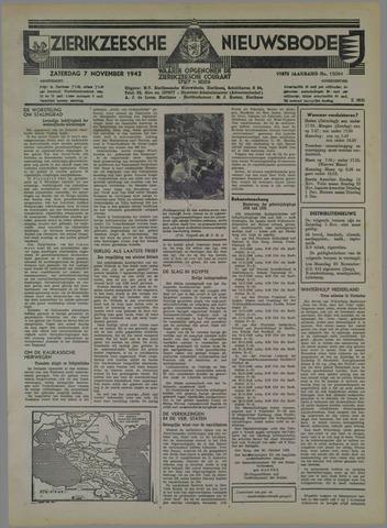 Zierikzeesche Nieuwsbode 1942-11-07