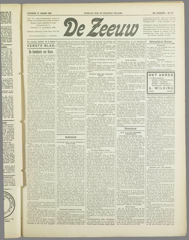 De Zeeuw. Christelijk-historisch nieuwsblad voor Zeeland 1934-01-27