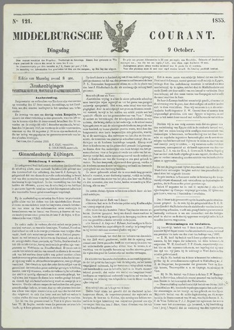 Middelburgsche Courant 1855-10-09
