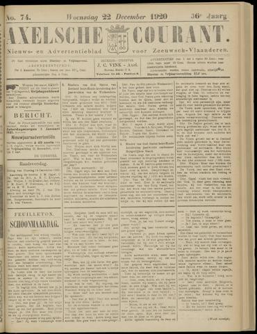 Axelsche Courant 1920-12-22