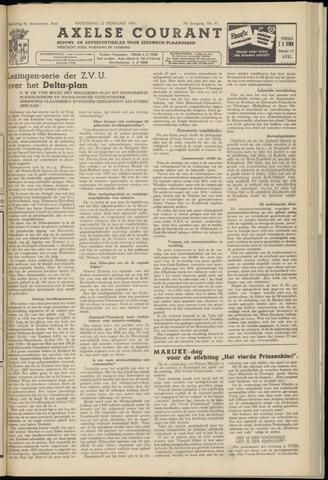 Axelsche Courant 1956-02-22