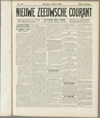 Nieuwe Zeeuwsche Courant 1909-10-02