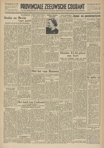 Provinciale Zeeuwse Courant 1947-04-30