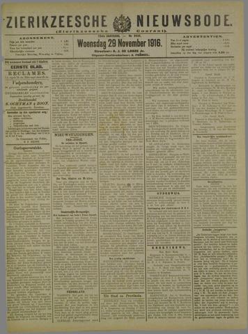 Zierikzeesche Nieuwsbode 1916-11-29