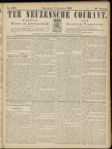 Ter Neuzensche Courant. Algemeen Nieuws- en Advertentieblad voor Zeeuwsch-Vlaanderen / Neuzensche Courant ... (idem) / (Algemeen) nieuws en advertentieblad voor Zeeuwsch-Vlaanderen 1900-09-06