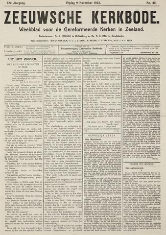 Zeeuwsche kerkbode, weekblad gewijd aan de belangen der gereformeerde kerken/ Zeeuwsch kerkblad 1923-11-09