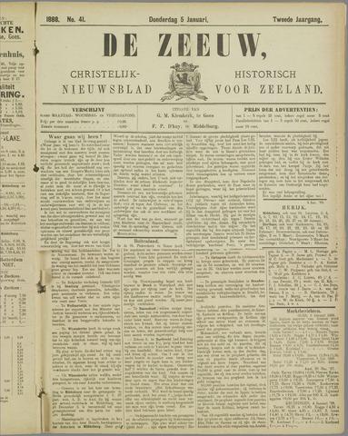 De Zeeuw. Christelijk-historisch nieuwsblad voor Zeeland 1888-01-05