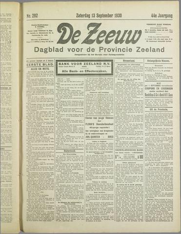 De Zeeuw. Christelijk-historisch nieuwsblad voor Zeeland 1930-09-13
