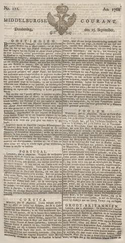 Middelburgsche Courant 1768-09-15