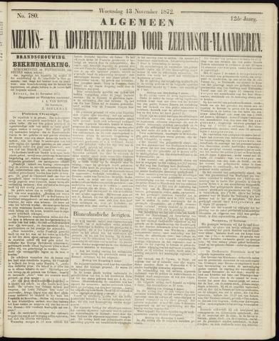 Ter Neuzensche Courant. Algemeen Nieuws- en Advertentieblad voor Zeeuwsch-Vlaanderen / Neuzensche Courant ... (idem) / (Algemeen) nieuws en advertentieblad voor Zeeuwsch-Vlaanderen 1872-11-13
