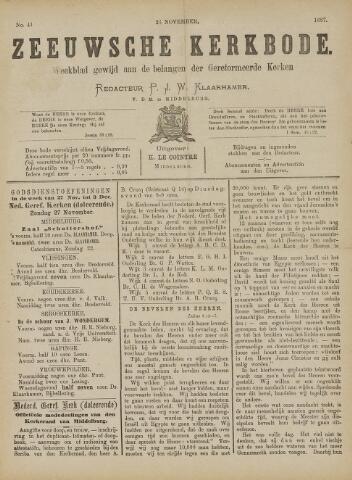 Zeeuwsche kerkbode, weekblad gewijd aan de belangen der gereformeerde kerken/ Zeeuwsch kerkblad 1887-11-26