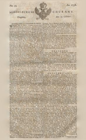 Middelburgsche Courant 1758-10-31