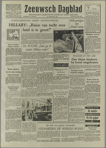 Zeeuwsch Dagblad 1958-01-07