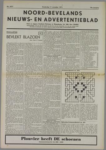Noord-Bevelands Nieuws- en advertentieblad 1971-11-11