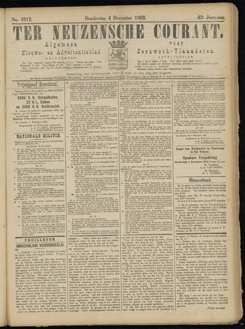 Ter Neuzensche Courant. Algemeen Nieuws- en Advertentieblad voor Zeeuwsch-Vlaanderen / Neuzensche Courant ... (idem) / (Algemeen) nieuws en advertentieblad voor Zeeuwsch-Vlaanderen 1902-12-04