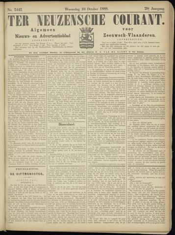 Ter Neuzensche Courant. Algemeen Nieuws- en Advertentieblad voor Zeeuwsch-Vlaanderen / Neuzensche Courant ... (idem) / (Algemeen) nieuws en advertentieblad voor Zeeuwsch-Vlaanderen 1888-10-10