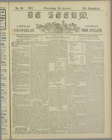 De Zeeuw. Christelijk-historisch nieuwsblad voor Zeeland 1912-01-24