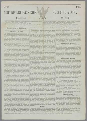 Middelburgsche Courant 1854-06-29