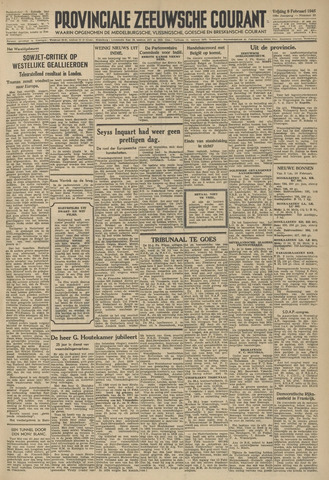 Provinciale Zeeuwse Courant 1946-02-08