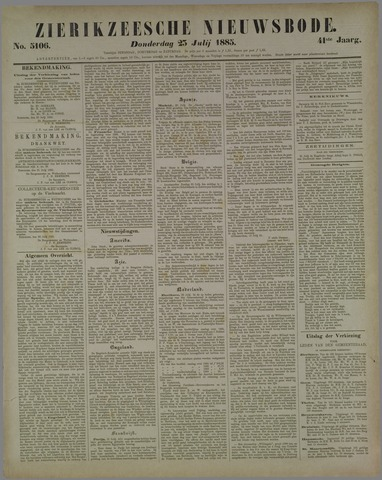 Zierikzeesche Nieuwsbode 1885-07-23