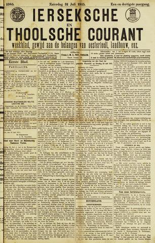 Ierseksche en Thoolsche Courant 1915-07-31