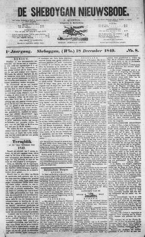 Sheboygan Nieuwsbode 1849-12-18