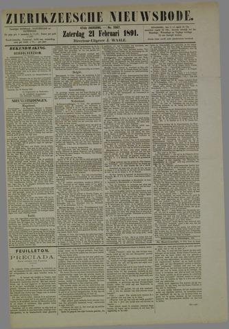 Zierikzeesche Nieuwsbode 1891-02-21