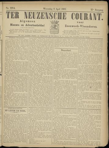 Ter Neuzensche Courant. Algemeen Nieuws- en Advertentieblad voor Zeeuwsch-Vlaanderen / Neuzensche Courant ... (idem) / (Algemeen) nieuws en advertentieblad voor Zeeuwsch-Vlaanderen 1887-04-06