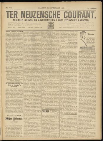 Ter Neuzensche Courant. Algemeen Nieuws- en Advertentieblad voor Zeeuwsch-Vlaanderen / Neuzensche Courant ... (idem) / (Algemeen) nieuws en advertentieblad voor Zeeuwsch-Vlaanderen 1933-09-11