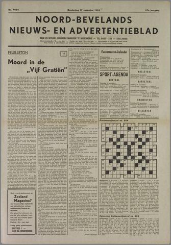 Noord-Bevelands Nieuws- en advertentieblad 1983-11-17