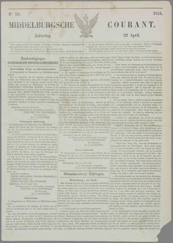 Middelburgsche Courant 1854-04-22