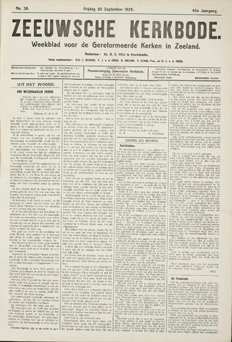 Zeeuwsche kerkbode, weekblad gewijd aan de belangen der gereformeerde kerken/ Zeeuwsch kerkblad 1929-09-20