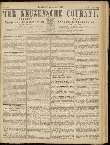 Ter Neuzensche Courant. Algemeen Nieuws- en Advertentieblad voor Zeeuwsch-Vlaanderen / Neuzensche Courant ... (idem) / (Algemeen) nieuws en advertentieblad voor Zeeuwsch-Vlaanderen 1904-11-01