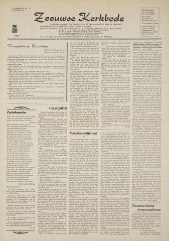 Zeeuwsche kerkbode, weekblad gewijd aan de belangen der gereformeerde kerken/ Zeeuwsch kerkblad 1969-01-23
