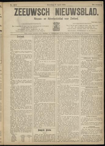 Ter Neuzensch Volksblad. Vrijzinnig nieuws- en advertentieblad voor Zeeuwsch- Vlaanderen / Zeeuwsch Nieuwsblad. Nieuws- en advertentieblad voor Zeeland 1918-04-27