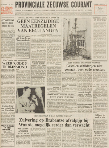 Provinciale Zeeuwse Courant 1971-09-21