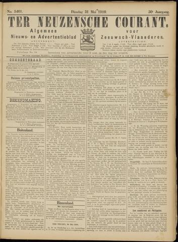 Ter Neuzensche Courant. Algemeen Nieuws- en Advertentieblad voor Zeeuwsch-Vlaanderen / Neuzensche Courant ... (idem) / (Algemeen) nieuws en advertentieblad voor Zeeuwsch-Vlaanderen 1910-05-31