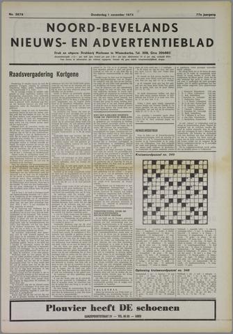 Noord-Bevelands Nieuws- en advertentieblad 1973-11-01