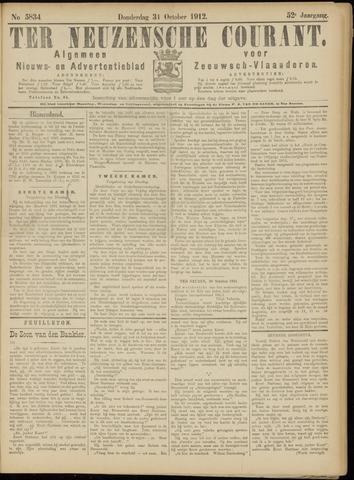 Ter Neuzensche Courant. Algemeen Nieuws- en Advertentieblad voor Zeeuwsch-Vlaanderen / Neuzensche Courant ... (idem) / (Algemeen) nieuws en advertentieblad voor Zeeuwsch-Vlaanderen 1912-10-31