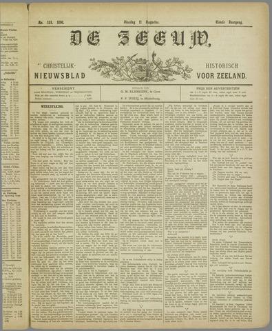 De Zeeuw. Christelijk-historisch nieuwsblad voor Zeeland 1896-08-11