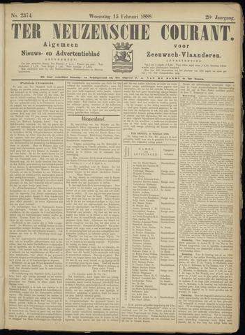 Ter Neuzensche Courant. Algemeen Nieuws- en Advertentieblad voor Zeeuwsch-Vlaanderen / Neuzensche Courant ... (idem) / (Algemeen) nieuws en advertentieblad voor Zeeuwsch-Vlaanderen 1888-02-15